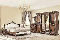 Комплект спальни Аманда Скай со шкафом 4Д