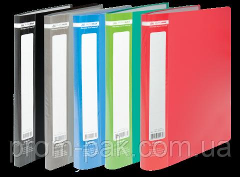 Папка пластиковая c 40 файлами А4 JOBMAX, ассорти, фото 2