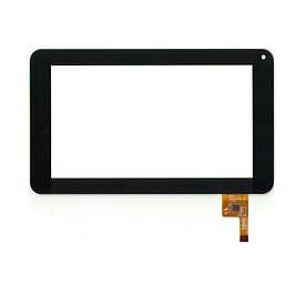 Сенсор (Тачскрин) для планшета GoClever Tab R70 (тип 1) 12 pin (186х111mm) (Черный) Оригинал Китай