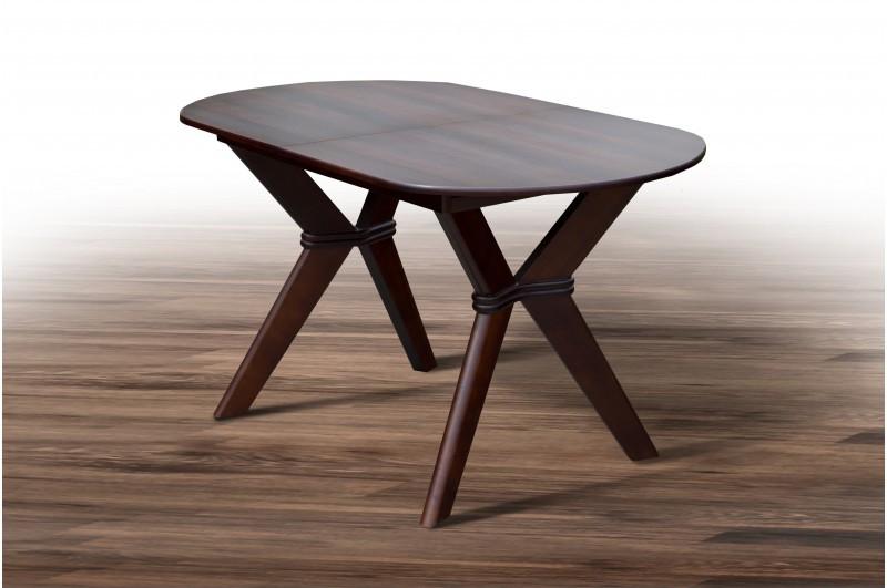 Стіл обідній, дерев'яний - Брайтон (темний горіх)