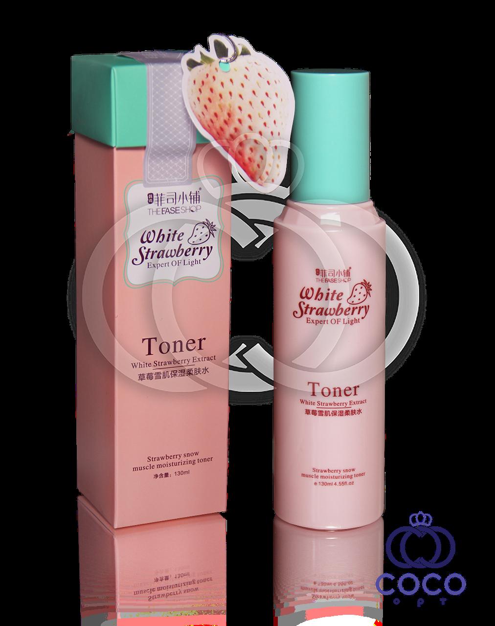 Корейский увлажняющий тонер с экстрактом белой клубники Toner White Strawberry Extract