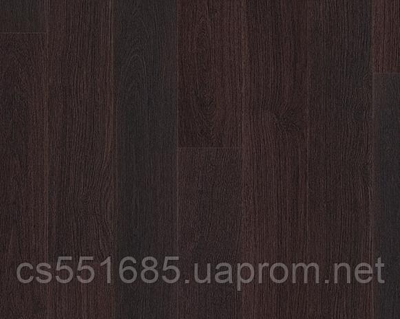 1306-Доска дубовая черная лакированная 32 кл, 8 мм Коллекция Eligna ламинат Quick-Step ( Квик –степ)