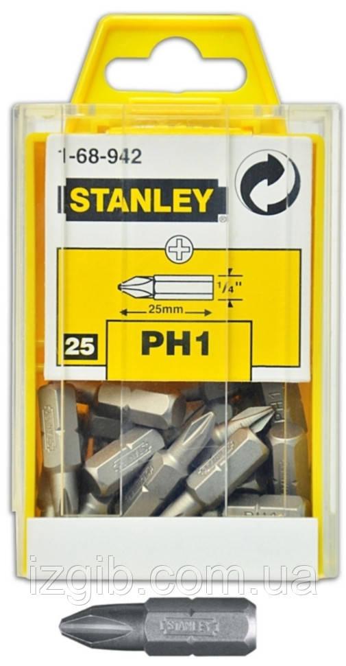 Набор насадок отверточных STANLEY Cr-V РН2х50мм 10 шт