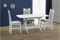 Кухонный комплект из натурального дерева -Аврора (белый, ваниль)Стол и 4 стула