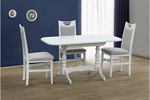 Кухонний комплект з натурального дерева -Аврора (білий, ваніль)Стіл і 4 стільця