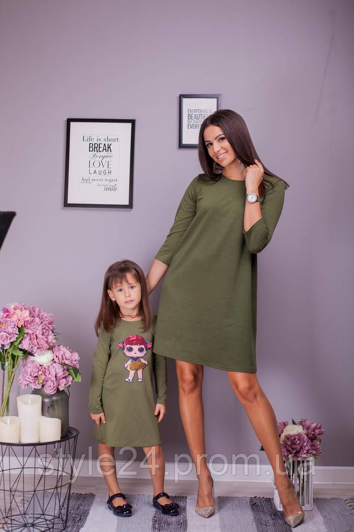Плаття для мами та донечки .Р-ри 86-140 і 42-48