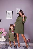 Плаття для мами та донечки .Р-ри 86-140 і 42-48, фото 1