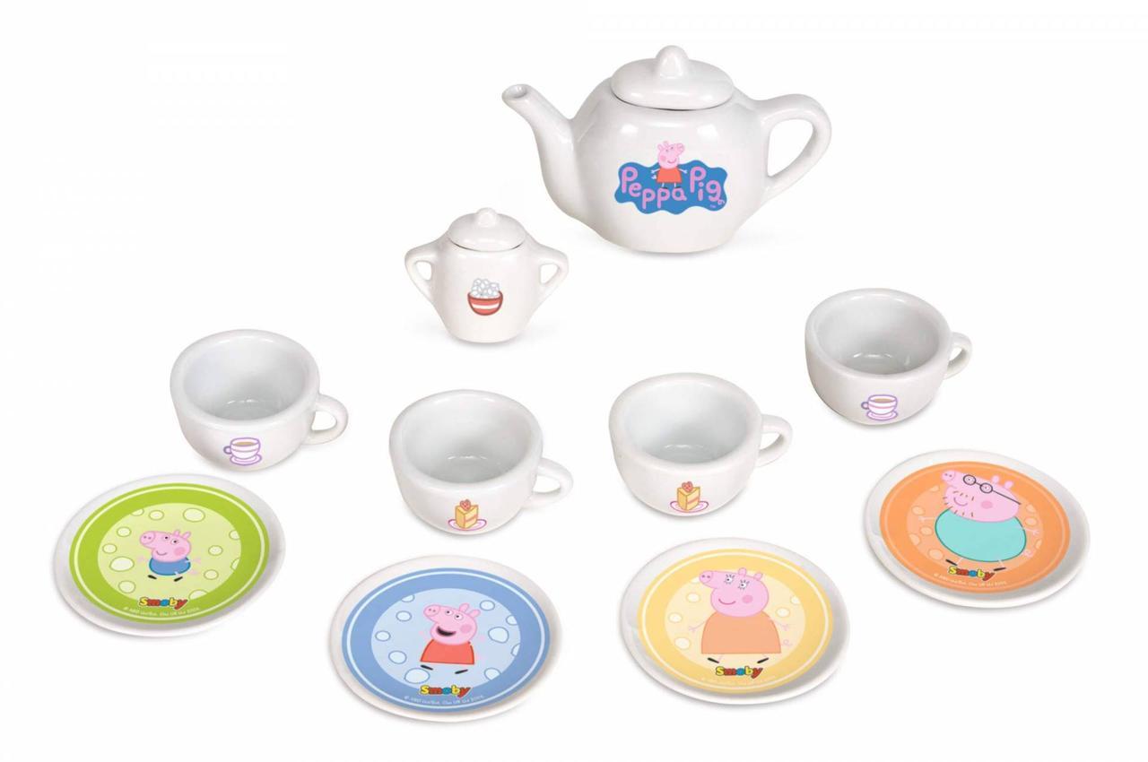 Игровой набор Чайный керамический сервиз Peppa Pig Smoby 310531