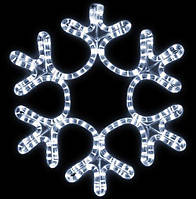 Уличная Светодиодная Снежинка 50 см, 24 LED, цвет -холодный белый