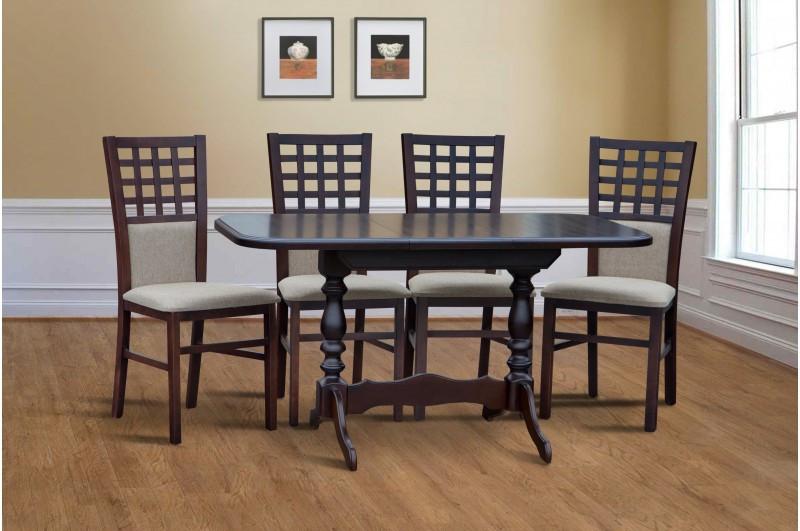 Обеденный деревянный комплект  -Шервуд. Стол раздвижной и 4 стула