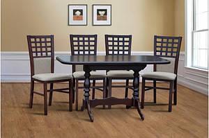 Обеденный деревянный комплект  -Аврора. Стол раздвижной и 4 стула