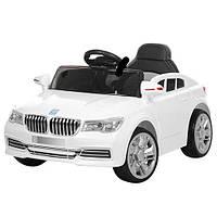 Детский электромобиль M 3271 EBLR-1, BMW, колеса EVA, Кожаное сиденье, FM радио, белый