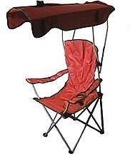 Кресло раскладное Паук с навесом R28854 52х88х140 см, красное