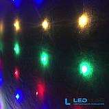 Светодиодная гирлянда Паутинка Роса Штора 3*2м Мультицвет с контроллером, фото 2