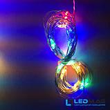 Светодиодная гирлянда Паутинка Роса Штора 3*2м Мультицвет с контроллером, фото 3