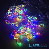 Светодиодная гирлянда Паутинка Роса Штора 3*2м Мультицвет с контроллером, фото 4