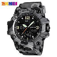 Skmei  1155 B hamlet  серый камуфляж мужские спортивные часы, фото 1