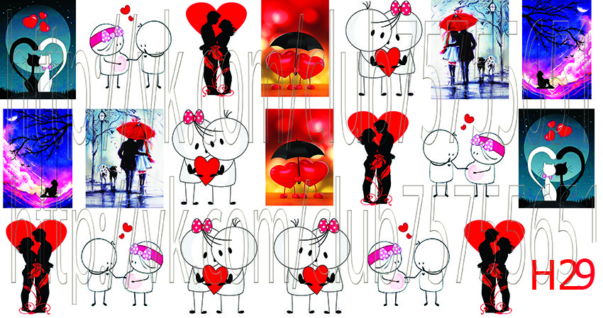 Слайдер дизайн для ногтей сердечки