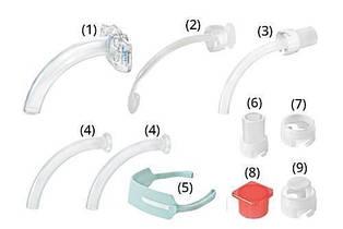 Трахеостомічна трубка KAN без манжети, зі змінними канюлями, розмір 8.0 (Набір для трахеостомії)