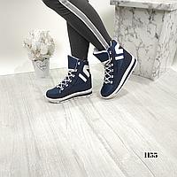 Женские высокие зимние  ботинки дутики на шнуровке, ОВ 1155, фото 1
