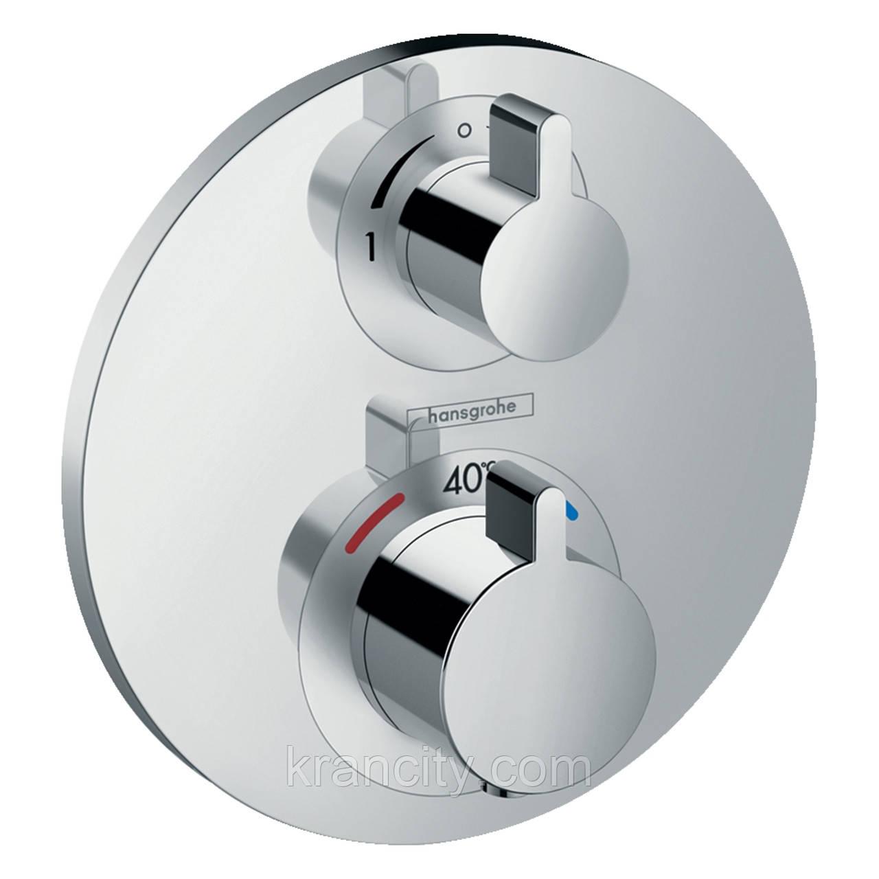 Смеситель Термостат с запорным/переключающим вентилем HANSGROHE Ecostat S 15758000