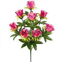 Букет атласные бутоны розы, 42см