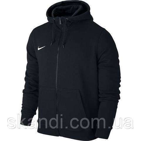 Толстовка мужская Nike Team Club FZ Hoody черная 658497 010