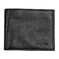 Кожаный мужской кошелек с RFID защитой черный Locker Wallet2 Black