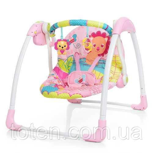 Дитячі гойдалки шезлонг Bambi 6519, рожевий 11