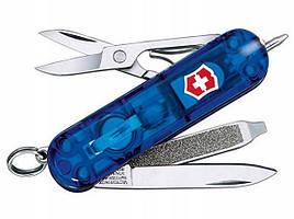 Нож складной, мультитул + LED Victorinox Signature Lite (58мм, 7 функций), синий 0.6226.T2