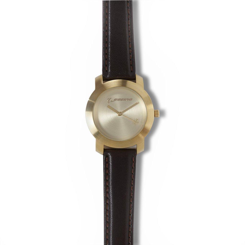 Женские часы Boeing Gold Rotating Airplane Watch