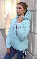 Зимняя короткая куртка оверсайз размер 46  Руфина зима 2020,  ТМ Nui Very, Украина