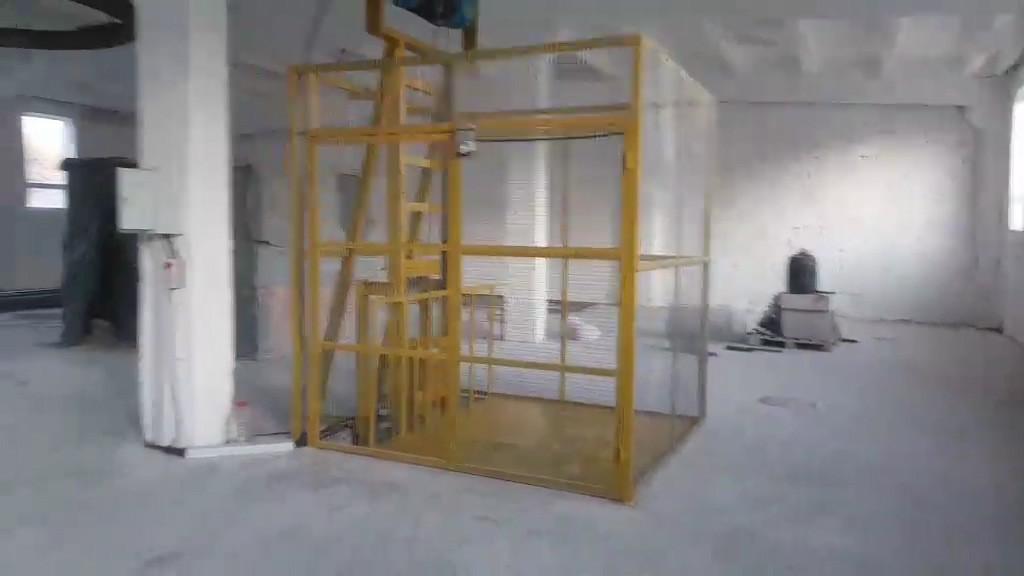 Подъемник складской грузовой шахтный