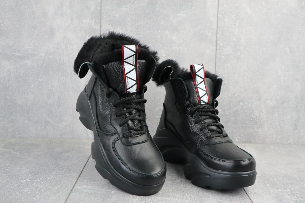 Ботинки женские Best Vak БЖ 52-01 черные (натуральная кожа, зима)