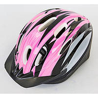 Велошлем шоссейный с механизмом регулировки Zelart розовый MV10