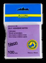 Блок для заметок NEON 76 x76мм, 100 листов, ассорти, фото 3