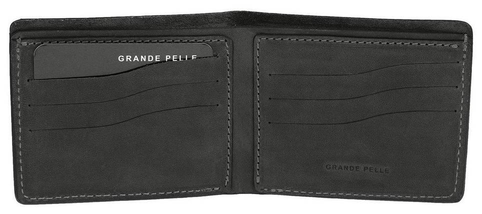 Бумажник мужской кожаный черный Onda Grande Pelle (roz-507110), фото 2