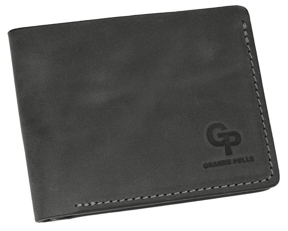 Бумажник мужской кожаный черный Onda Grande Pelle (roz-507110)