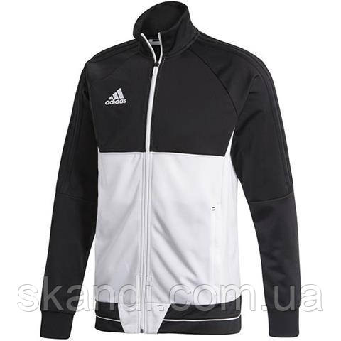 Толстовка мужская adidas Tiro 17 Polyester Jacket черно-белая BQ2598