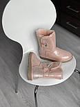 Натуральные женские угги кожаные UGG Australia Bailey Button Pink с пропиткой 36-40р. Живое фото. Люкс реплика, фото 8