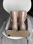 Натуральные женские угги кожаные UGG Australia Bailey Button Pink с пропиткой 36-40р. Живое фото. Люкс реплика, фото 2