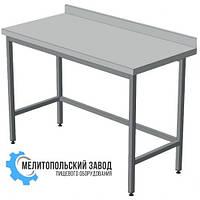 Стол производственный 1400х600х850 с бортом, из нержавеющей стали