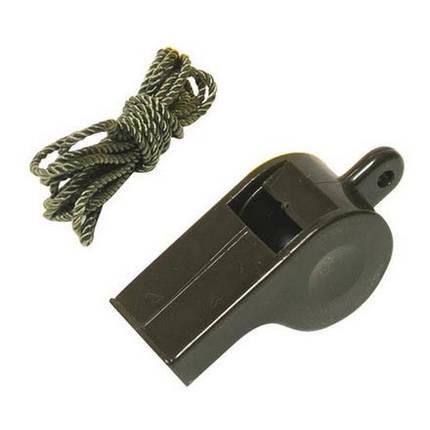 Свисток пластиковый со шнурком MilTec 16326001, фото 2