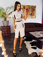 Бежевый костюм с застежками фастекс, фото 1