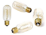 Лампа Эдисона, ретро лампа, винтажная лампа капсула, мощность 40 Вт, цоколь E27, модель T45