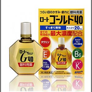 Японские глазные капли Rohto Gold 40 Eye Drops