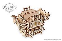 Механический 3D пазл UGEARS Дек Бокс: девайс для настольных игр (70071)
