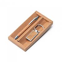 Набір ручка і брелок з пробки, фото 1