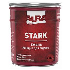 Алкидная эмаль для пола Aura Stark 2.8кг, Желто-коричневый