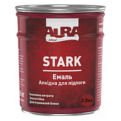 Алкидная эмаль для пола Aura Stark 2.8кг, Красно-коричневый